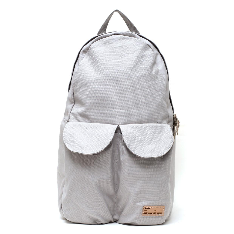 2Pocket Ear Flap Backpack Grey