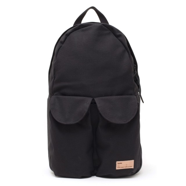 2Pocket Ear Flap Backpack Black
