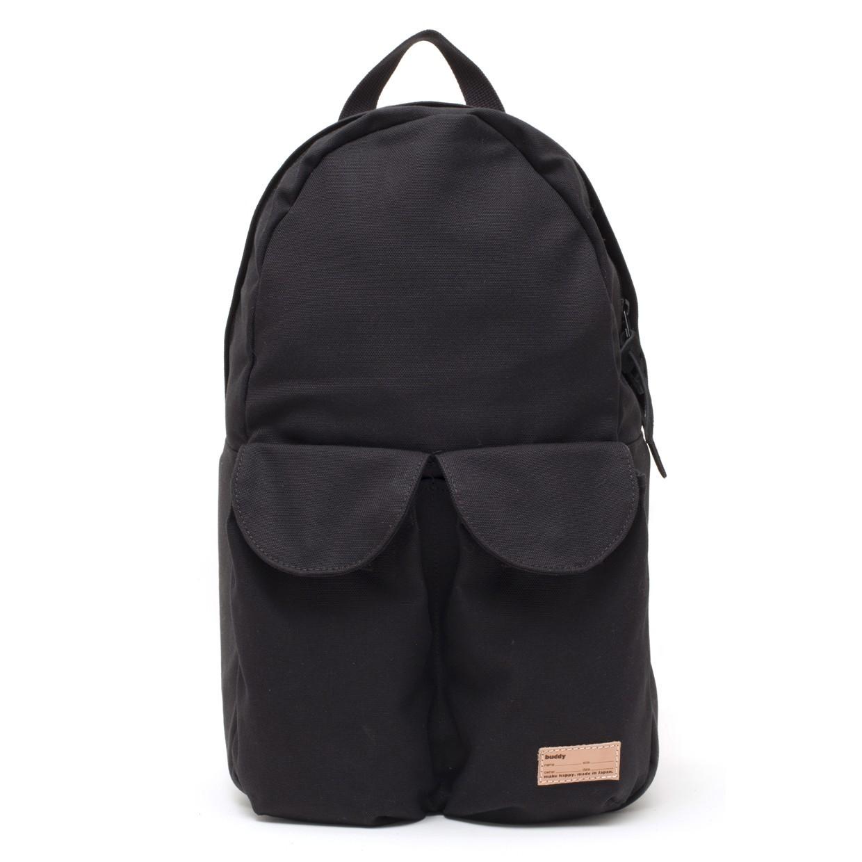 2Pocket Ear Flap Backpack Black