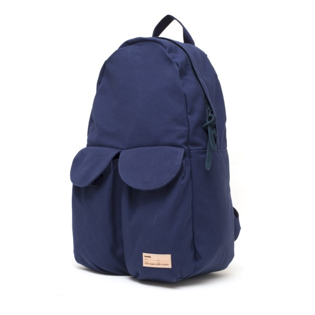 2Pocket Ear Flap Backpack Navy