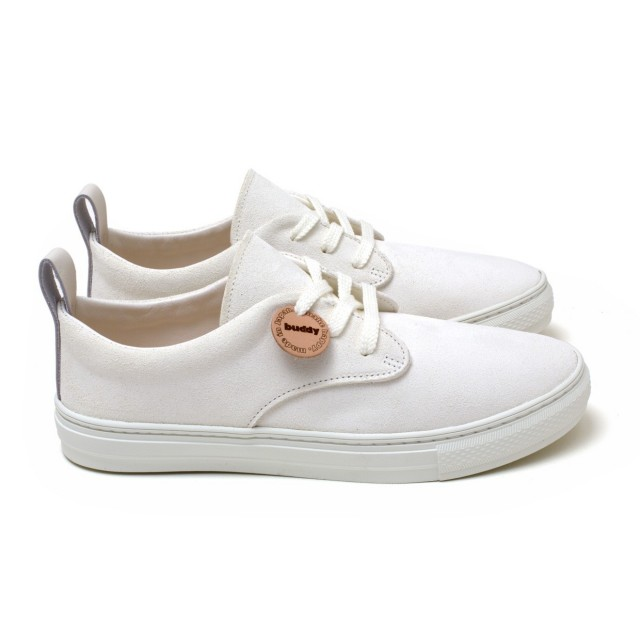 Corgi Low Chubby White Suede