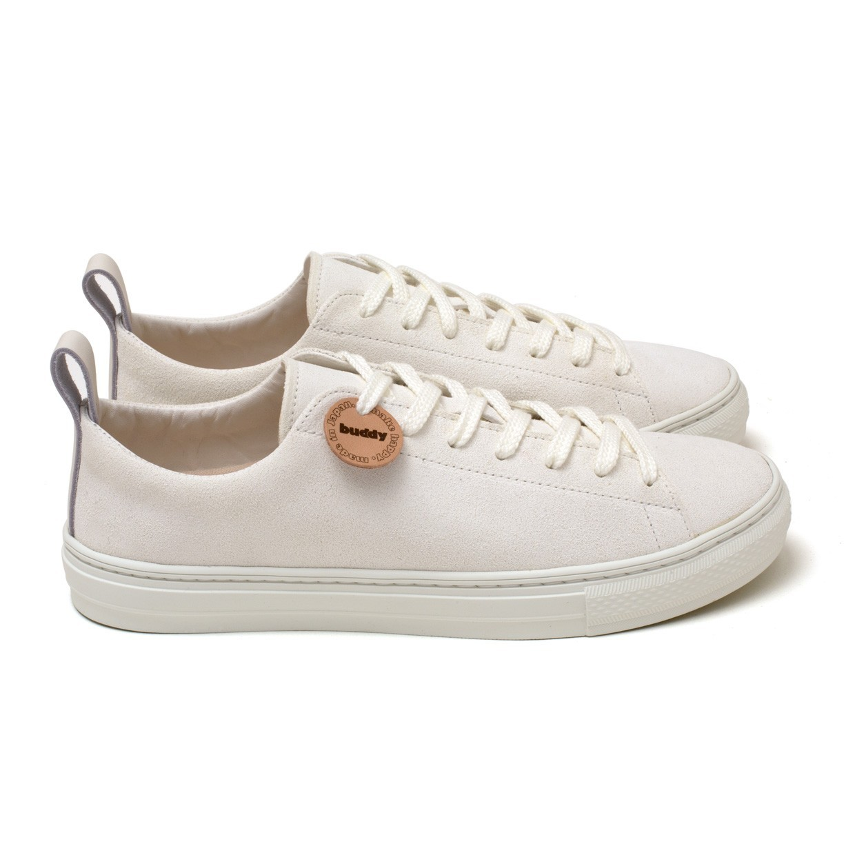 Bull Terrier Low Chubby White Suede