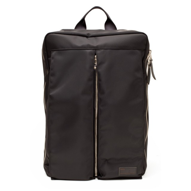 Luster Center Zip Backpack Black