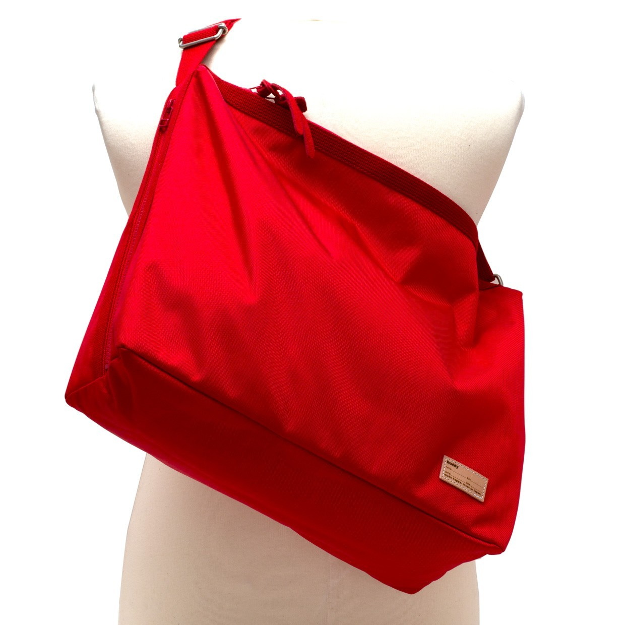 Fang Side Zip Shoulder Red