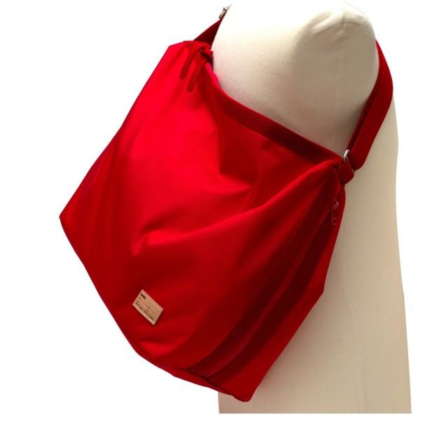 Fang Side Zip  Shoulder Rouge