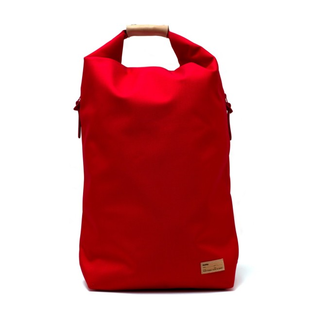 Ear fold top backpack Red