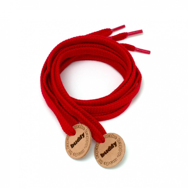Lacets Rouge avec Patch en cuir buddy Nature
