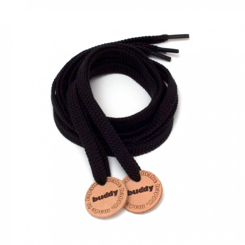 Lacets Noir avec Patch en cuir buddy Nature