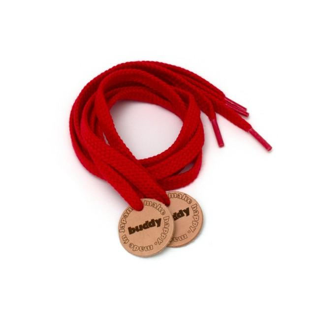"""Lacets Rouge avec Patch en cuir 78 cm : 31 """""""