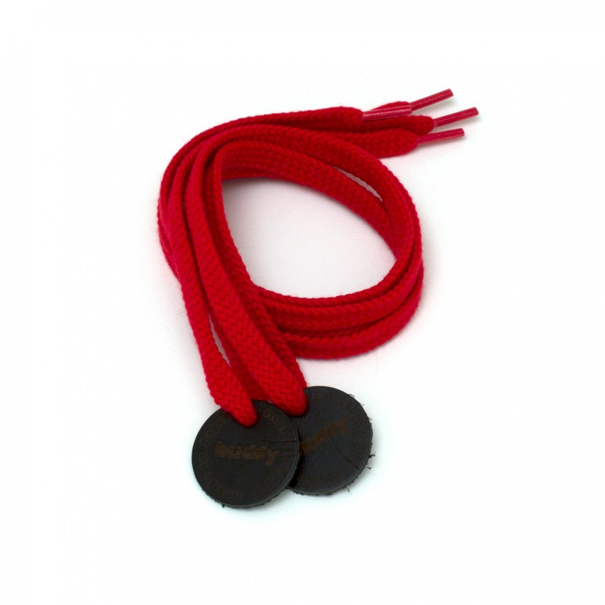 Shoelaces Red with Leather patch 78 cm : 31 ""