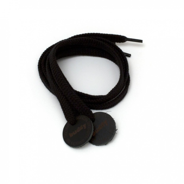 """Lacets Noir avec Patch en cuir 78 cm : 31 """""""