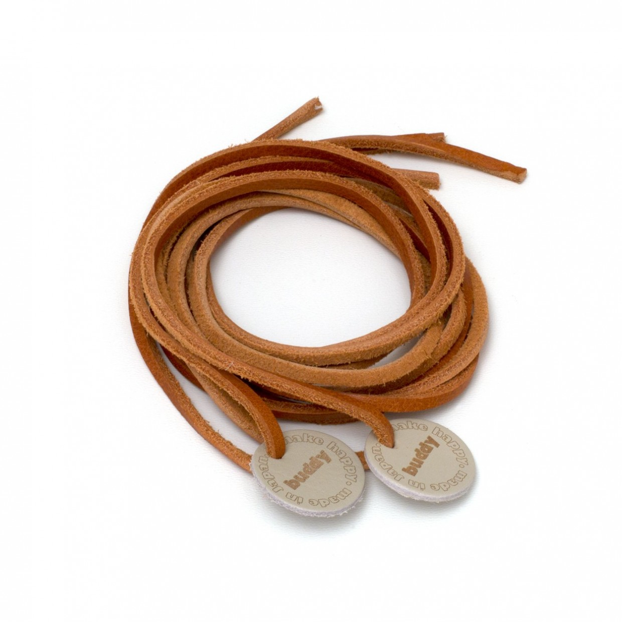 """Leather Shoelaces Natural Black with Leather patch 130 cm : 51 """""""