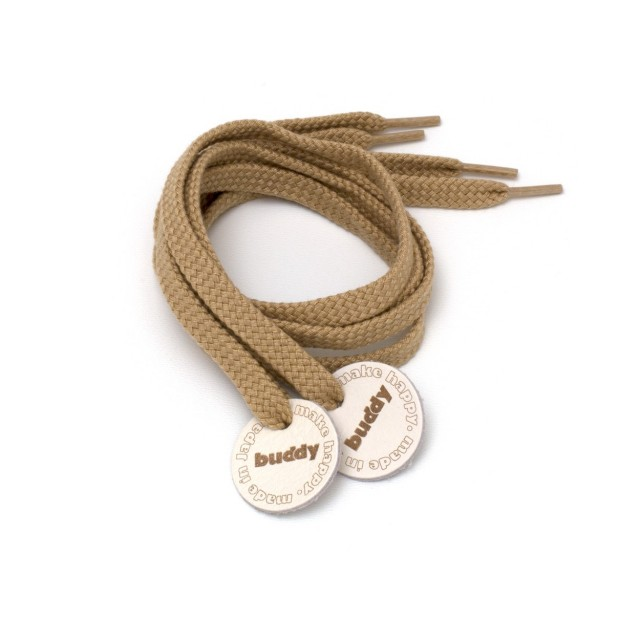 Shoelaces Camel with Leather patch 78 cm : 31 ""