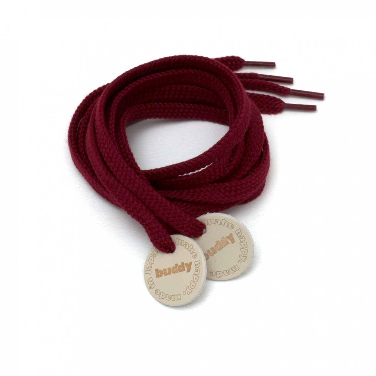 """Shoelaces Win with Leather patch 130 cm : 51"""""""