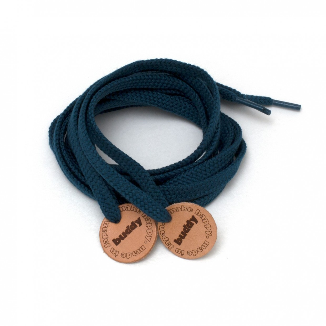 """Shoelaces Turqoise with Leather patch 130 cm : 51"""""""