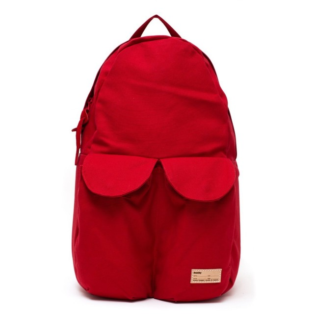 2Pocket Ear Flap Backpack Red