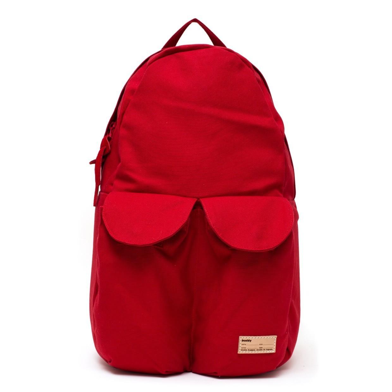 2Pocket Ear Flap Backpack Red